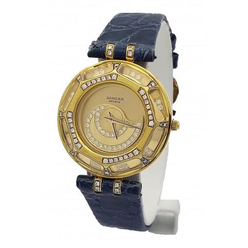 Sarcar Magic Moon gold lady's diamonds Ref. Q5225J