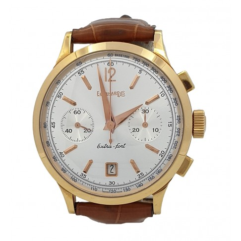 Eberhard & Co. Extra Fort Chronographe oro 18 kt automatico Ref. 30952OR