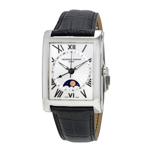 Frederique Constant Classics Carree Silver Dial Moonphase