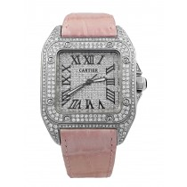 Cartier Santos 100 iced out Ref. 2878